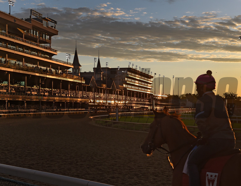 Sunrise at Churchill Downs May 3, 2017 in Louisville, KY.  Photo by Skip Dickstein