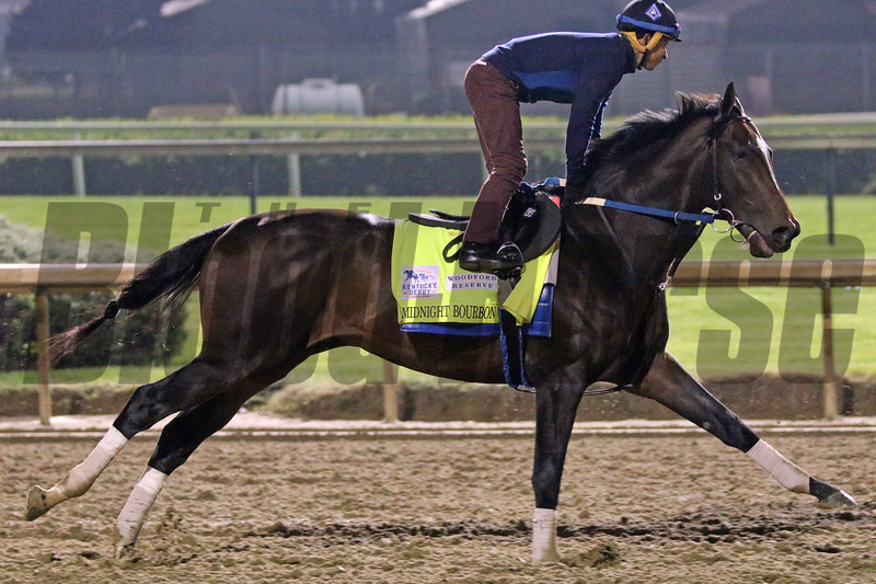Midnight Bourbon on the track at Churchill Downs on April 25, 2021. Photo By: Chad B. Harmon