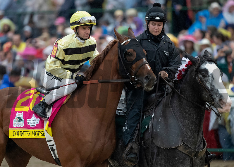 Country House and Flavien Prat before the start of the Kentucky Derby at Churchill Downs on May 4th, 2019.