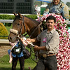 Bird Town with Edgar Prado after winning the Oaks<br />  at Churchill on May 1, 2003.<br /> OaksDay5/2Origs4 image 164<br /> PHoto by Anne M. Eberhardt