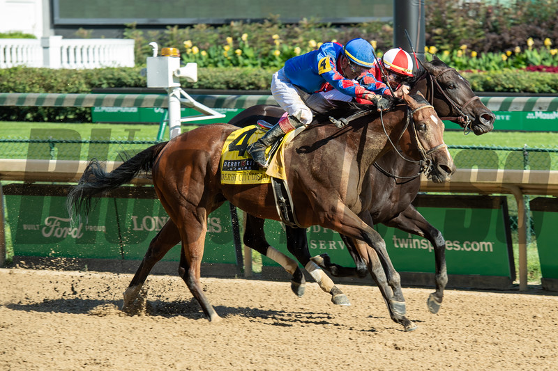Bell's the One with Corey Lanerie wins the Derby City Distaff (G1) at Churchill Downs, Louisville, KY on September 5, 2020.