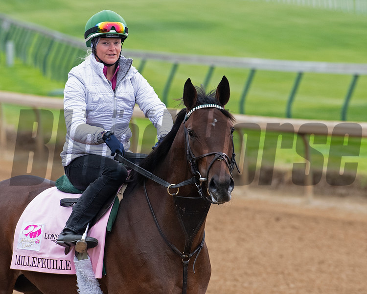 Millefeuille<br /> Kentucky Derby and Oaks horses, people and scenes at Churchill Downs in Louisville, Ky., on April 23, 2021.