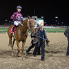 Caption: David Fiske with Winchell Thoroughbreds walks Gunner into wc.<br /> Gun Runner with Florent Geroux wins Clark Handicap (gr. I) on Nov. 25, 2016, at Churchill Downs.