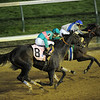 Blame, Garret Gomez up, narrowly defeats Zenyatta, Mike Smith up, to win the 2010 Breeders Cup Classic,  Churchill Downs; Louisville; KY; 11.6.10; Mathea Kelley