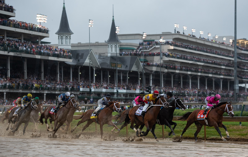 The field for the Kentucky Derby passed under the Twinspires