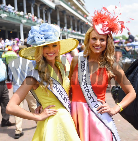 Miss Kentucky USA and Miss Kentucky Teen out and about in the crowd