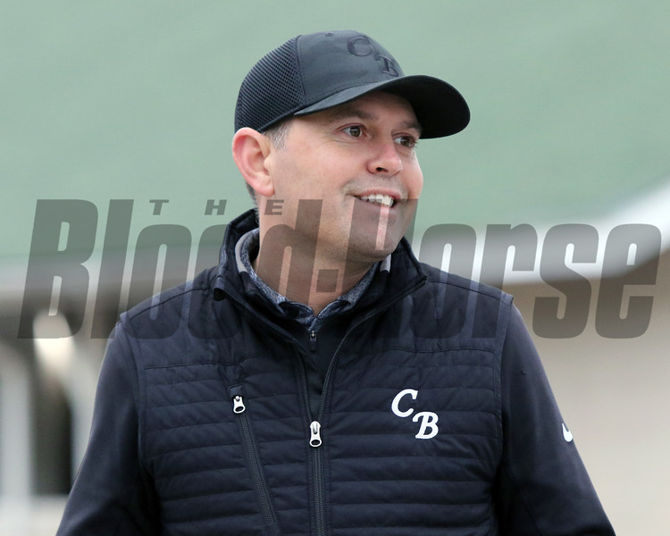 Chad Brown at Churchill Downs on April 24, 2021. Photo By: Chad B. Harmon