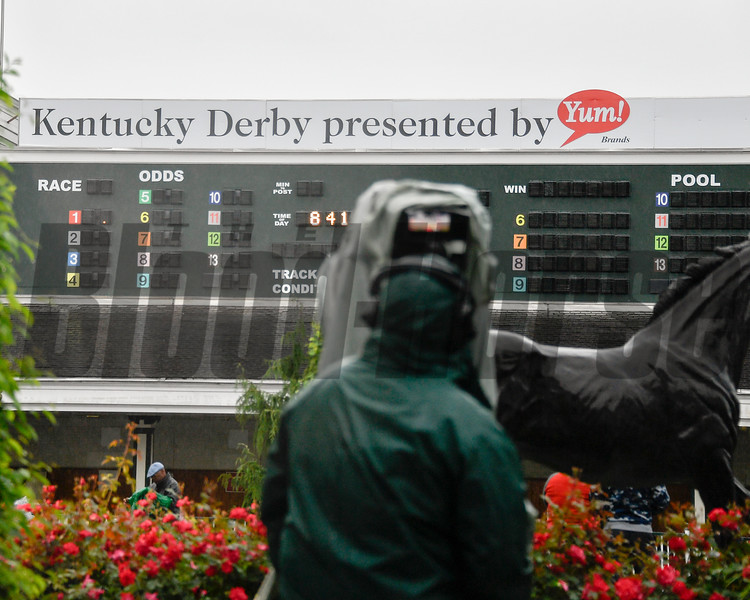 A rainy start to Derby Day.