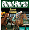June 23, 2012 Issue 25 Cover of The Blood-Horse with Ron The Greek winning the Stephen Foster.<br /> <br /> © The Blood-Horse