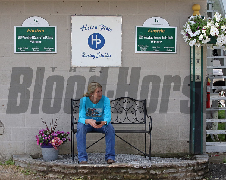 Helen Pitts at Churchill Downs on May 2, 2019. Photo By: Chad B. Harmon