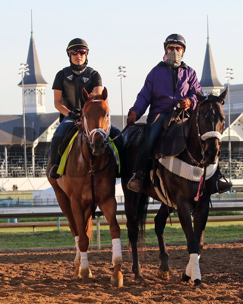Known Agenda coming off the track at Churchill Downs on April 27, 2021. Photo By: Chad B. Harmon
