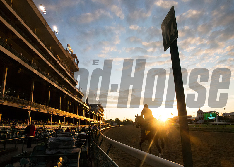 The sunrise Wednesday morning, May 3rd, 2017 at Churchill Downs.