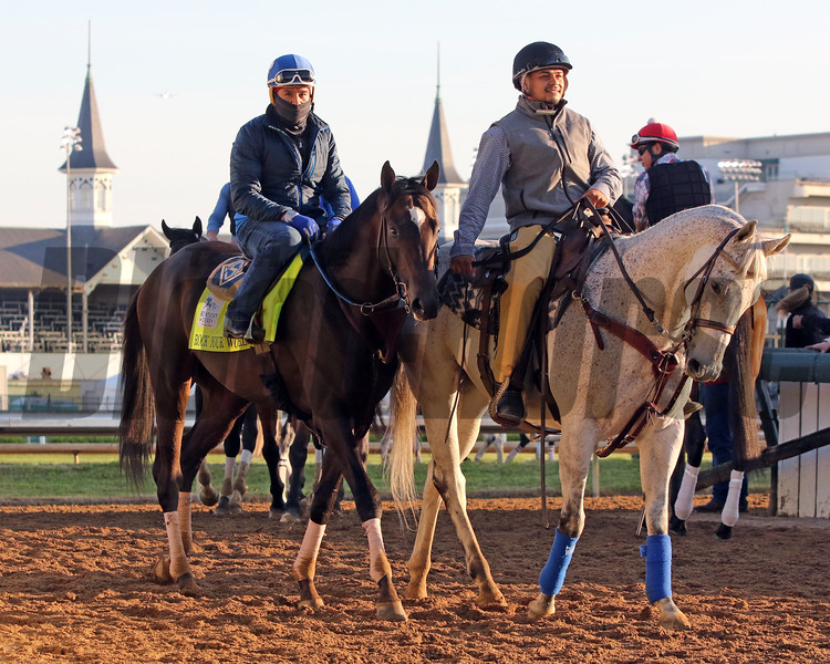 Rock Your World coming off the track at Churchill Downs on April 27, 2021. Photo By: Chad B. Harmon