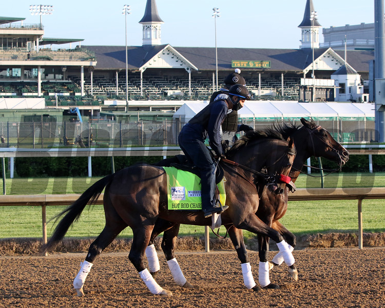 Hot Rod Charlie on the track at Churchill Downs on April 27, 2021. Photo By: Chad B. Harmon