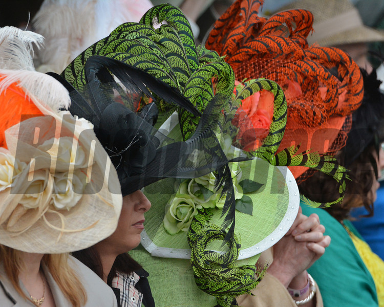 Colorful hats on Derby Day.
