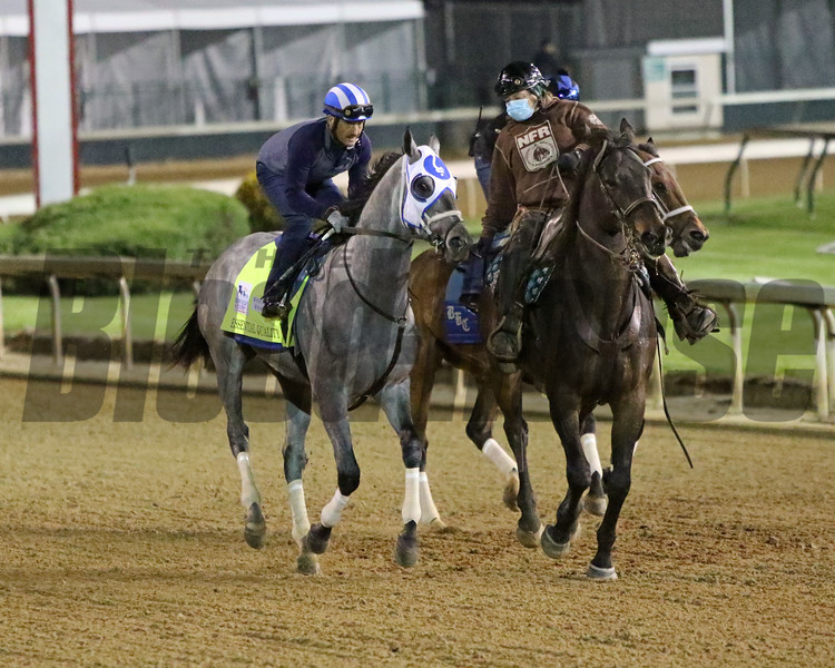 Essential Quality on the track at Churchill Downs on April 24, 2021. Photo By: Chad B. Harmon