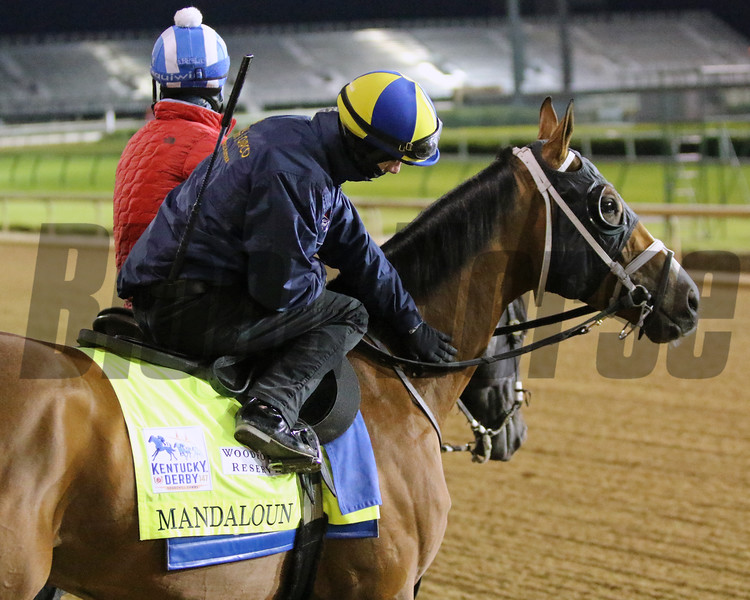 Mandaloun with Florent Geroux at Churchill Downs on April 24, 2021. Photo By: Chad B. Harmon