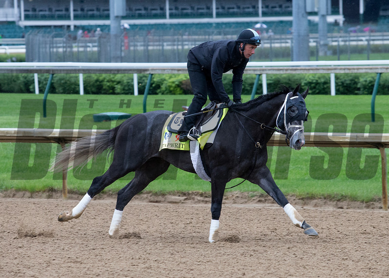 Tapwrit in the morning of Thursday, May 4th, 2017 at Churchill Downs.