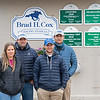 (L-R): Livia Frazar DVM (Brad's wife), Brad Cox, Bryson Cox, and Blake Cox (missing is youngest son Brodie)<br /> Kentucky Derby and Oaks horses, people and scenes at Churchill Downs in Louisville, Ky., on April 25, 2021.