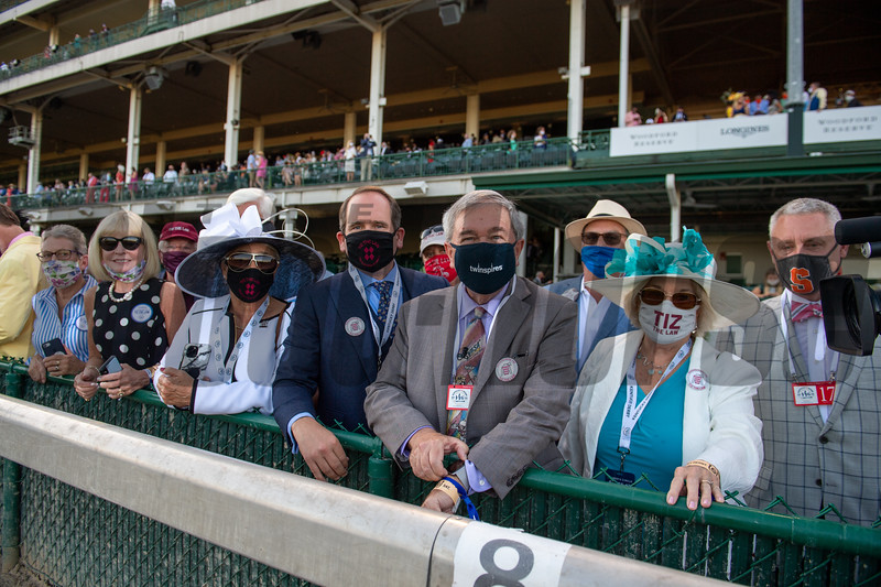 Connections of Tiz the Law at the Kentucky Derby (G1) at Churchill Downs, Louisville, KY on September 5, 2020.