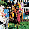 Dust Commander in the winner's circle after winning the 1970 Kentucky Derby.<br /> <br /> ©The Blood-Horse