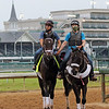 Bourbonic coming off the track at Churchill Downs on April 28, 2021. Photo By: Chad B. Harmon