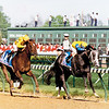 Winning Colors and jockey Gary Stevens wins the 1988 Kentucky Derby at Churchill Downs.<br /> Skip Dickstein Photo