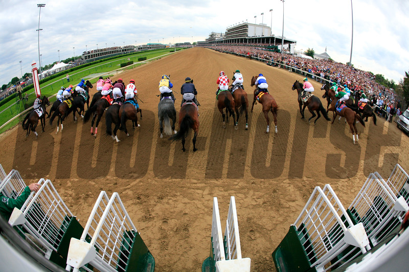 The horses broke from the gate for the 137th running of the Kentucky Derby (G. I) at Churchill Downs on May 7, 2011. Photo by Crawford Ifland.