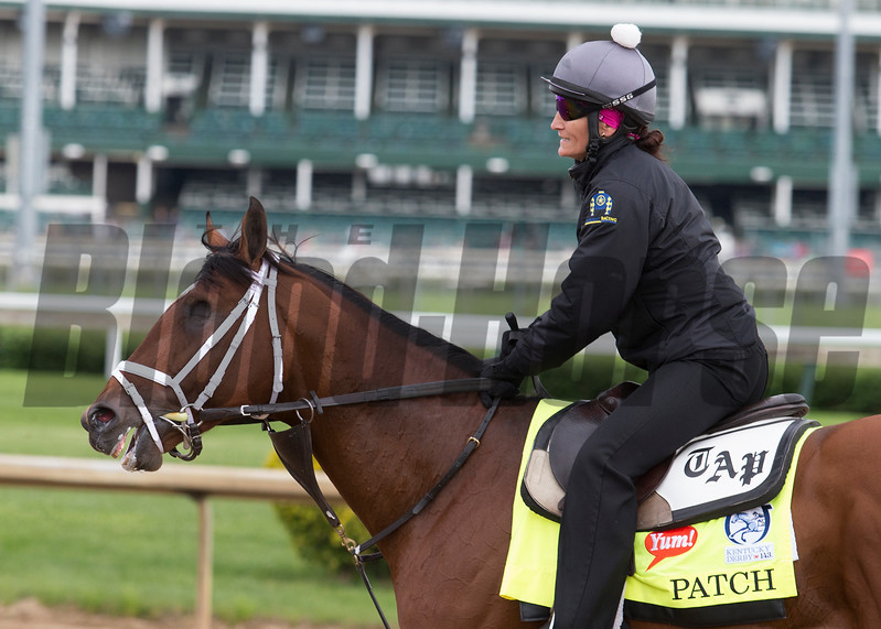 Patch in the morning of Wednesday, May 3rd, 2017 at Churchill Downs.