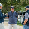 (l-R): Elliott Walden, John Moynihan, David Hanley<br /> Keeneland September sale yearlings in Lexington, KY on September 14, 2020.