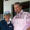 Cathy and Wayne Sweezey with Timber Town<br /> Keeneland September sale yearlings in Lexington, KY on September 12, 2020.