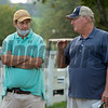 (L-R): Hutton Goodman and John Moynihan<br /> Keeneland September sale yearlings in Lexington, KY on September 14, 2020.