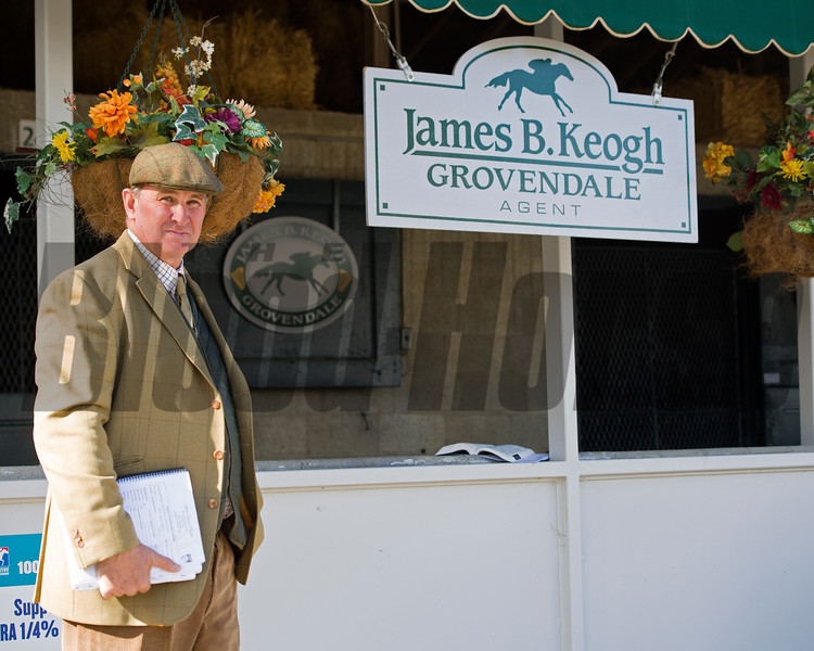 Keogh at his consignment<br /> James B. Keogh, plus Lane's End stallions and Keeneland ring<br /> Keeneland November Sales on Nov. 11, 2016, in Lexington, Ky.