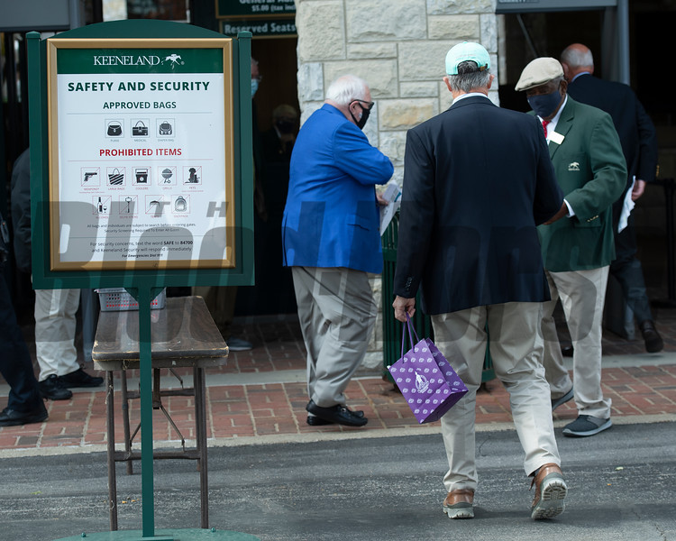 Safety and Security<br /> Scenes at Keeneland  on October 3, 2020.