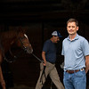 Jack Sisterson at his training barn at Keeneland n Lexington, Ky on Aug. 17, 2021. Photo: Anne M. Eberhardt