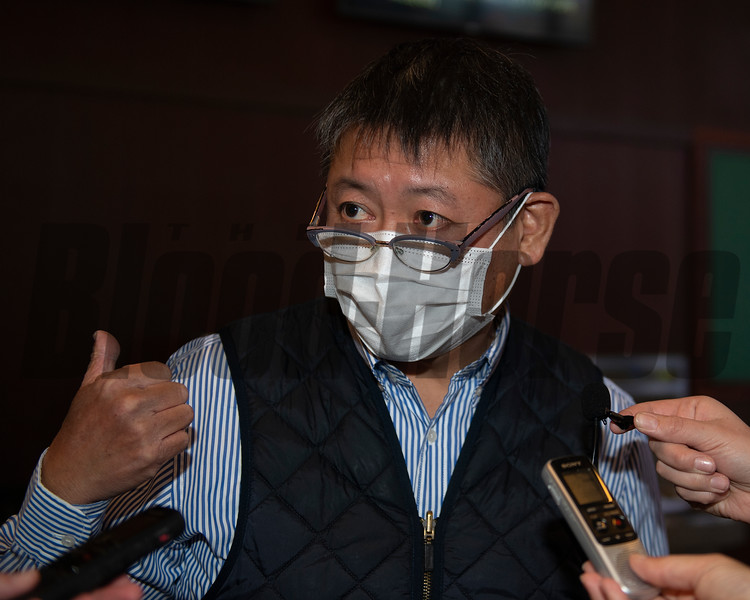Naohiro Hosada after buying Hip 48 Lady Prancealot from Taylor Made<br /> Sales horses at the Keeneland November Sale at Keeneland in Lexington, Ky. on November 9, 2020.