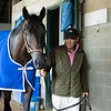 Caption: Maxfield<br /> Keeneland scenes and horses on April 25, 2020 Keeneland in Lexington, KY.