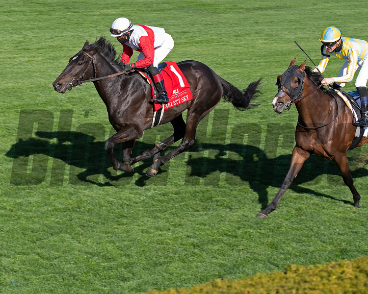 Scarlett Sky with Joel Rosario wins the Kentucky Utilities Transylvania (G3T)<br /> at Keeneland near Lexington, Ky., on April 2, 2021.