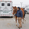 Mare arrives via Sallee<br /> Keeneland January Sales at Keeneland near Lexington, Ky., on Jan. 9, 2021.