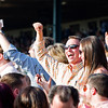 Winning fans.<br /> Time and Motion with John Velazquez wins the Queen Elizabeth II Challenge Cup (gr. IT) presented by Lane's End at Keeneland on Oct. 15, 2016, in Lexington, Ky.
