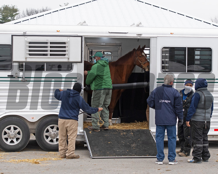 vanning<br /> Keeneland January Sales at Keeneland near Lexington, Ky., on Jan. 9, 2021.