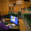 Timothy Labato works the internet bidding<br /> at Keeneland September sale yearlings in Lexington, KY on September 22, 2020.