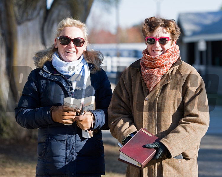 Anita, left, and Marette Farrell<br /> Keeneland November Sales on Nov. 13, 2016, in Lexington, Ky.