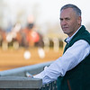 Caption: Jim Pendergest, Director of Racing Surfaces<br /> Behind the Scenes at Keeneland during Covid19 virus and the people, horses, and essentials needed to take care of race horses on April 2, 2020 Keeneland in Lexington, KY.