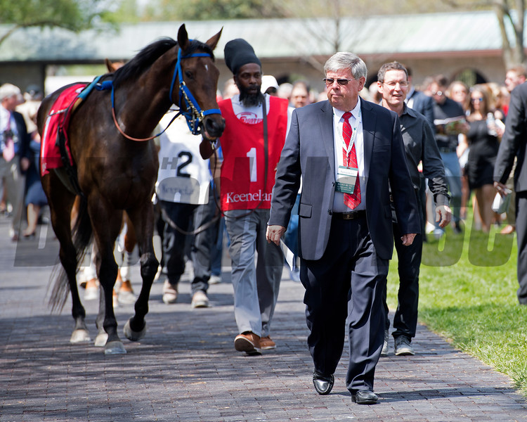 Billy Fryer and Keeneland security. Scenes at Keeneland. April 14, 2017 Keeneland in Lexington, Ky.