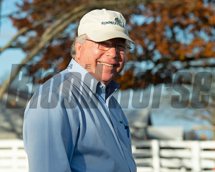 Francis Vanlangendonck with Summerfield<br /> Sales horses at the Keeneland November Sale at Keeneland in Lexington, Ky. on November 10, 2020.