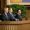 (L-R): Scott Caldwell, Justin Holmberg, Scott Hazelton<br /> Keeneland January Horses of all ages sales on<br /> Jan. 17, 2020 Keeneland in Lexington, KY.