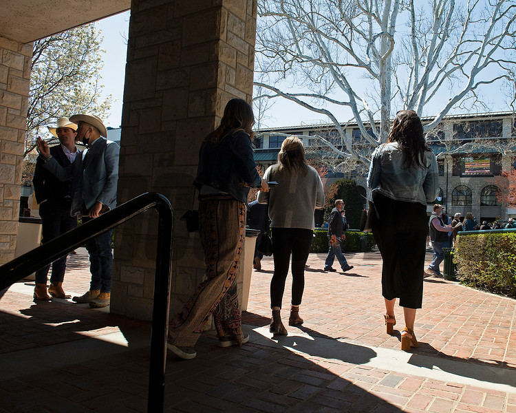 fans arriving into the paddock<br /> Scenes from opening day at Keeneland near Lexington, Ky., on April 2, 2021.