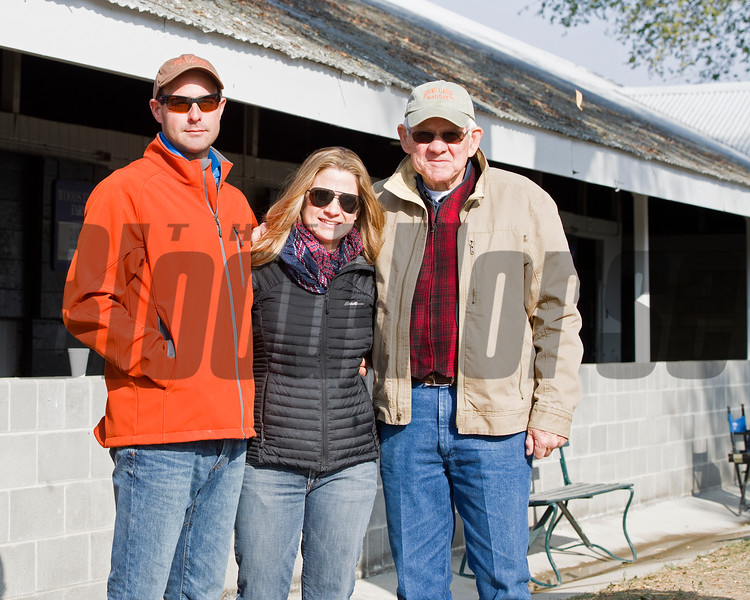 l-r Michael and J.B. Orem and Beau Lane<br /> Beau Lane with J.B. and Michael Orem at the Beau Lane consignment plus sales scenes.<br /> Keeneland November Sales on Nov. 15, 2016, in Lexington, Ky.