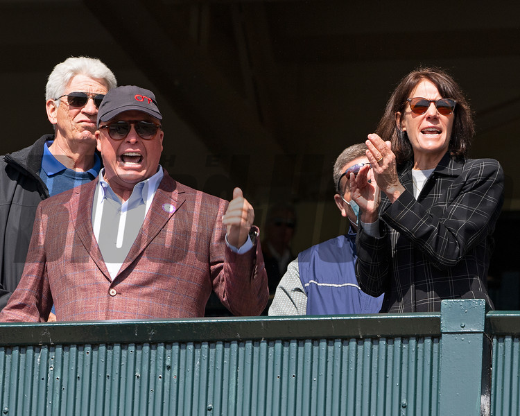 Ed and Susie Orr cheering home Boldor in Race 7.<br /> Scenes at Keeneland near Lexington, Ky., on April 15, 2021. .